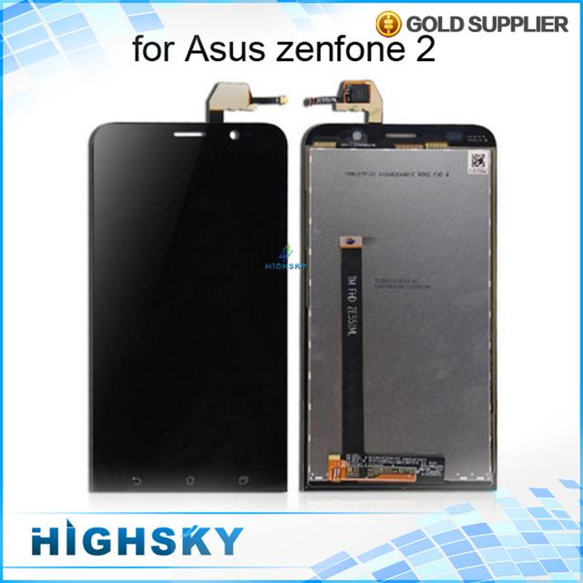 1 unidades el envío libre probado pantalla lcd de pantalla para asus zenfone 2 ze551ml pantalla táctil con digitalizador 5.5 pulgadas negro