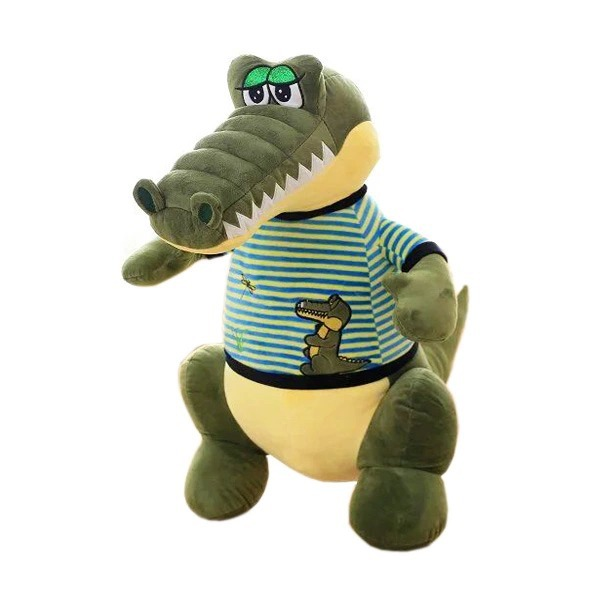 58cm Cartoon Crocodile Plush Pillow Staffed Animal Crocodile Doll with Clothes Toy birthday gift