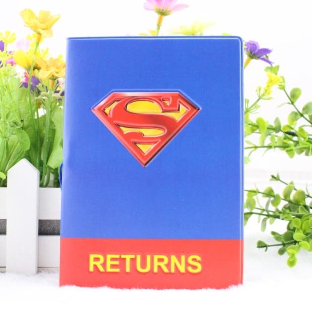 De Pcs Dessinée Passeport Gros Frais Pvc Voyage 3d 50 Du Cuir Détenteurs Bande Conception Couverture superman En Passeport qCxEHwIYY