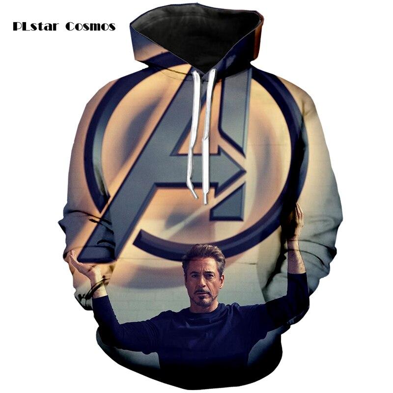 PLstar Cosmos brand iron Man Tony 3D printed hoodie fashion street casual hip-hop men and women sweatshirt S-5XL