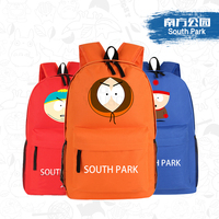 2015 New Funny Anime South Park Eric Printing Backpack Canvas School Bags For Teenagers Men Women