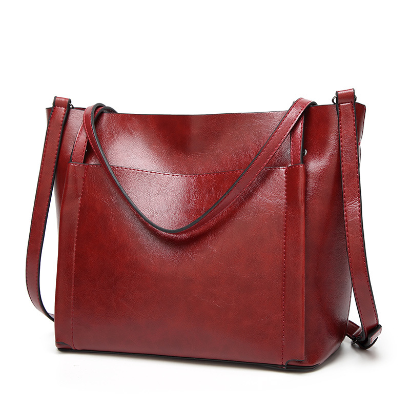 Fashion <font><b>Women</b></font> Handbag PU Oil Wax Leather <font><b>Women</b></font> <font><b>Bag</b></font> Large Capacity Tote <font><b>Bag</b></font> <font><b>Big</b></font> Ladies <font><b>Shoulder</b></font> <font><b>Bags</b></font> <font><b>for</b></font> <font><b>women</b></font> <font><b>2018</b></font> Bolsas Femini image