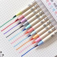 10 шт. Ткань Цвет кисть каллиграфия ручки для написания Подпись маркер канцелярские школьные товары для рукоделия canetas Эсколар fb805