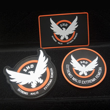 Game Airsoft Cosplay PVC Patch Division SHD Wings Out Badge Morale Military Armband Tactical Rubber Badges