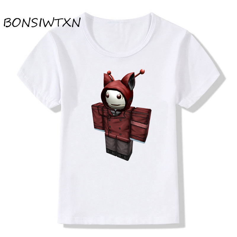 Bonsiwtxn Summer Kids 3d T Shirt Short Sleeve Roblox Fashion