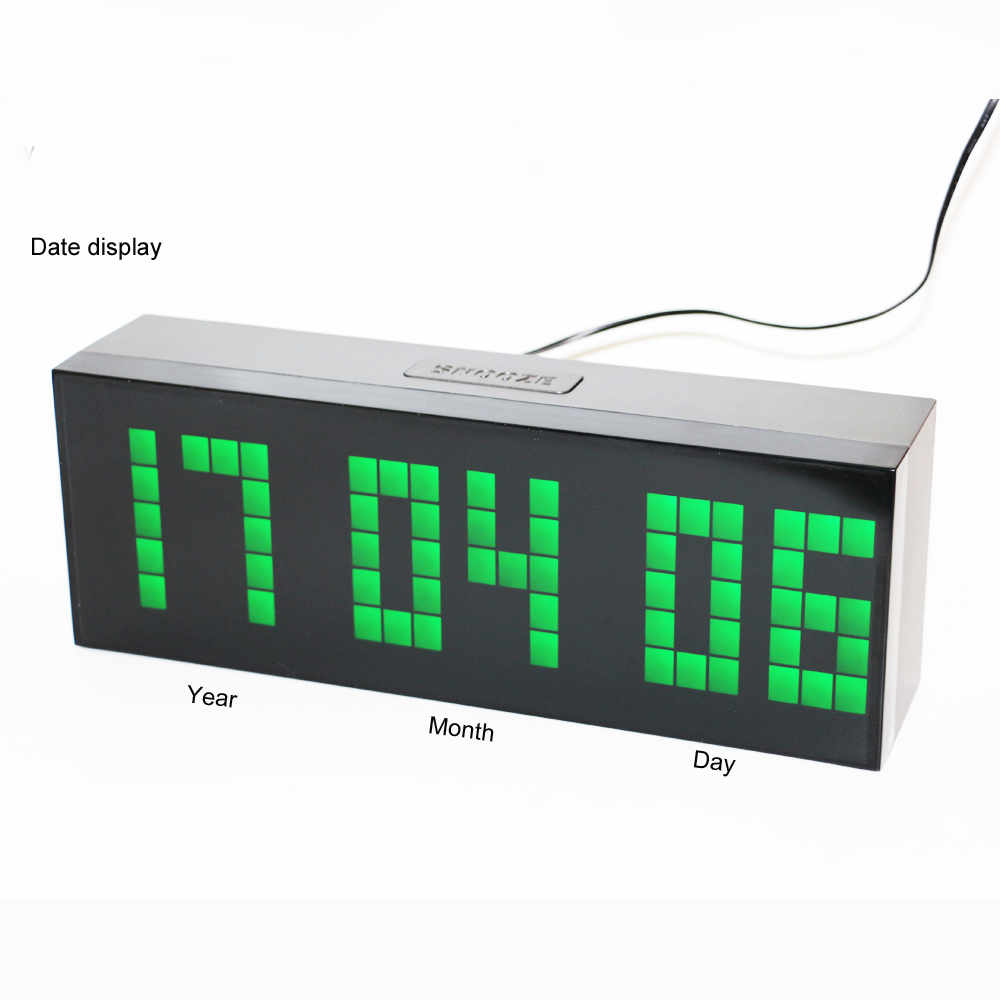 Desk Wall Led Digital Alarm Clock Countdown Timer Clock with - Home Decor - Photo 3