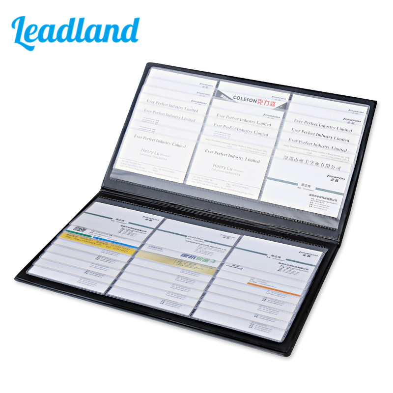 effective business name card book classification easy book deli 5778 creative thin business card holder book plastic id holder Kingfom Classical Large Capacity Leather Business Card Holder Card Collection Book 1490