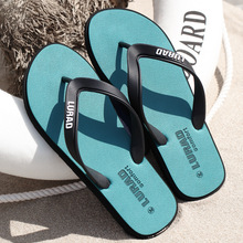 Big size  fretwork casual flip flops men drag crust non-slip