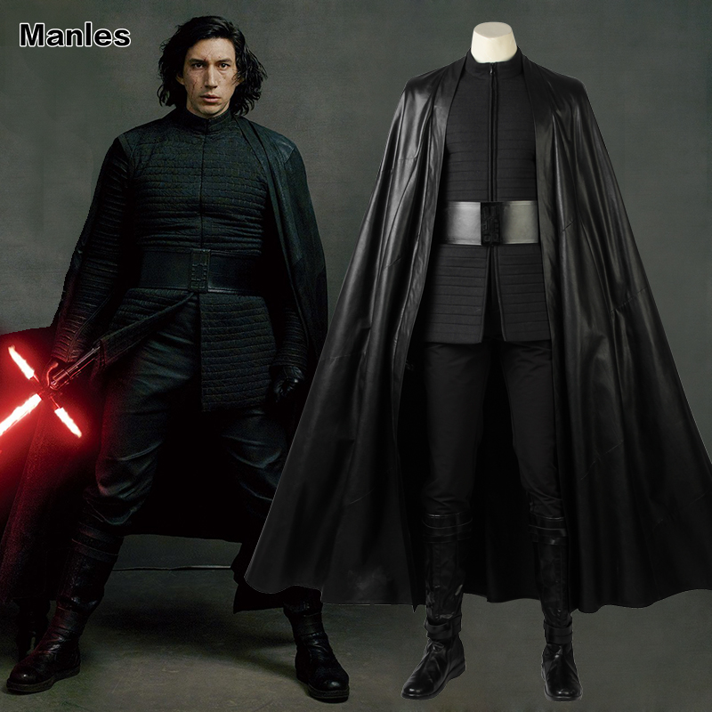 Star Wars The Last Jedi Cosplay Kylo Ren Costume Movie Superhero Outfit New Year Clothes Halloween