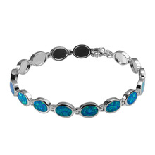 Hot Sale Exquisite Blue Fire Opal 925 Sterling Silver Fashion Beautiful Jewelry Bracelet P343
