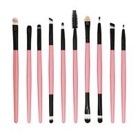 New Fashion 10pcs/set Makeup Brushes Black Pink Set Tools Goat Hair Make-up Toiletry Kit Wool Make Up Brush Pincel Maquiagem Hot Eye Shadow Applicator