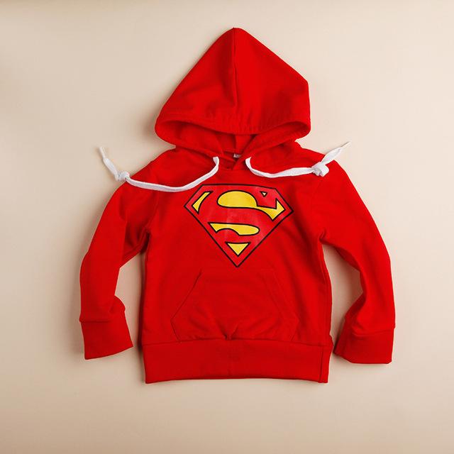 2014 novas crianças outerwear bebê meninos meninas primavera outono hoodies supperman outerwear sweatershirts casaco bebê frete grátis 939A