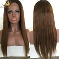 7A cabelo brasileiro virgem cheia do laço perucas sem cola peruca completa perucas preto Natural para as mulheres negras