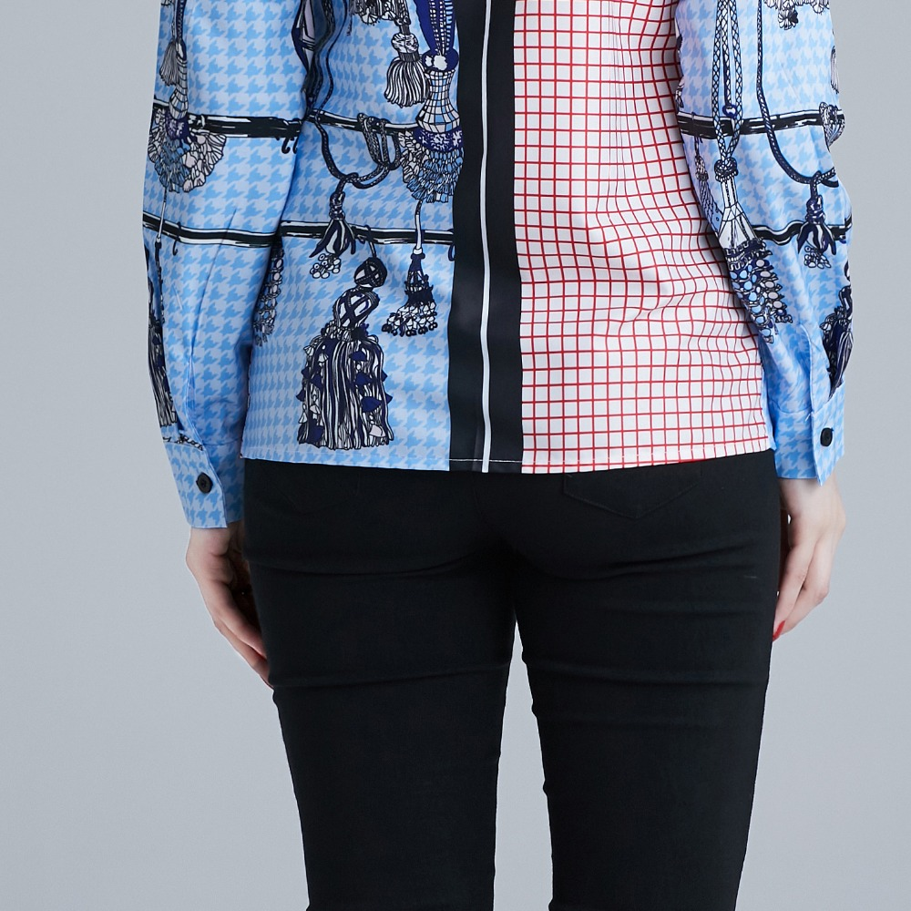 Spring new tops 2019 fashion lapel long sleeve blusas shirts Leopard patchwork blouse women 39 s office plus size 3xl bluzki damski in Blouses amp Shirts from Women 39 s Clothing