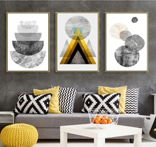 Nordic Modern Geometric Abstract Pattern Paintings Decoration for Living Room Wall Art Canvas Pictures No Framed