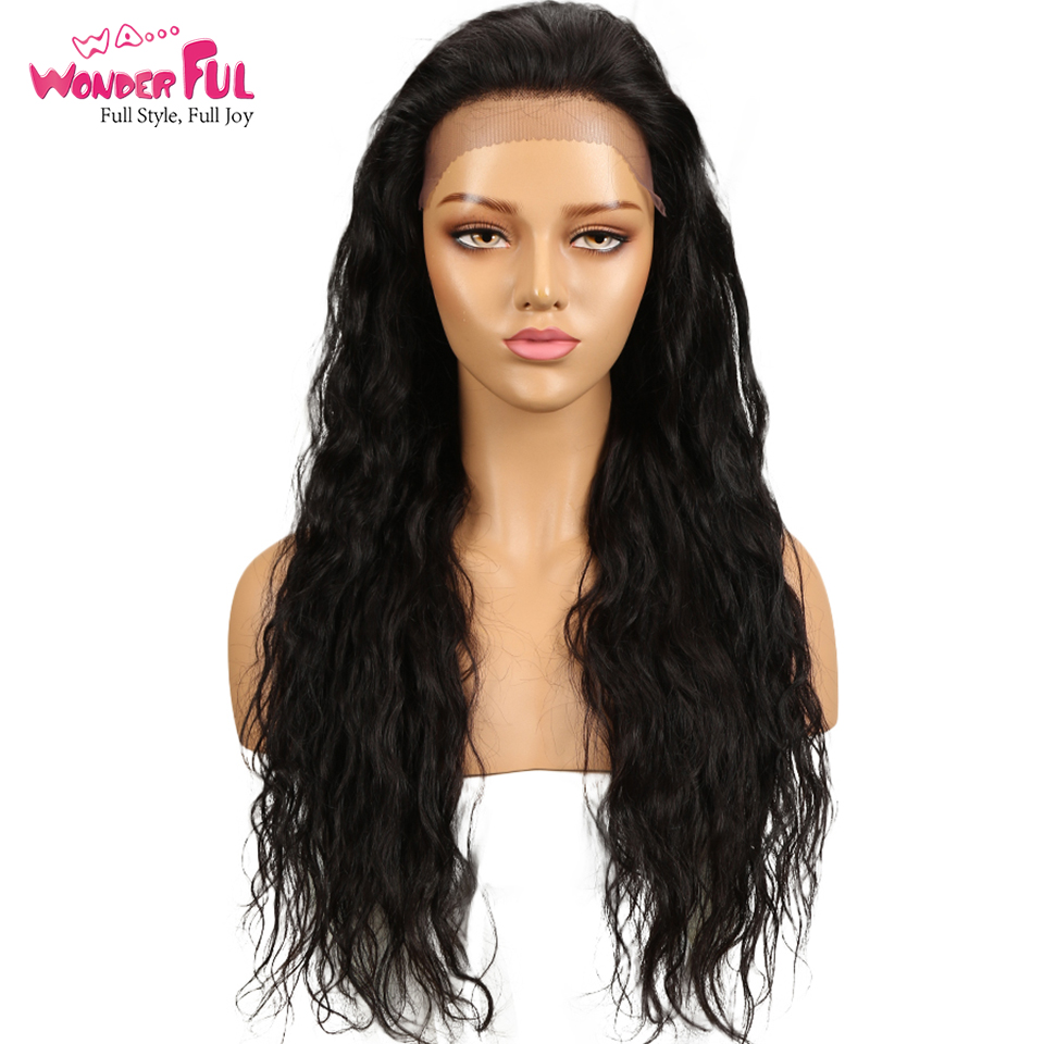 WAWonderful Human Hair Wigs For Black Women Brazilian Body Wave Remy Lace Front Wigs Human Hair 24 Long inch Wavy Wigs