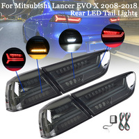 Car Rear LED Tail Brake Lamp for Mitsubishi Lancer EVOx 2008 17 Left Right Side LED Tail Light Signal DRL Stop Lamp Accessories