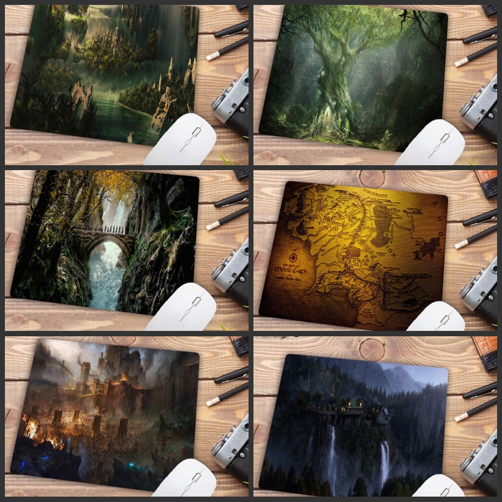 Mairuige Big Promotion Wholesale Gamer Speed Mousemat Lord Of The Rings Hot Sale Mouse Pad Computer Gaming MousePads 22X18CM