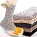 Aguja masculina Otoño hombres de Invierno Calcetines de Lana de Conejo Engrosamiento Térmica calcetines de lana Elite Soks Calientes 5 pares = 10 unidades sokken
