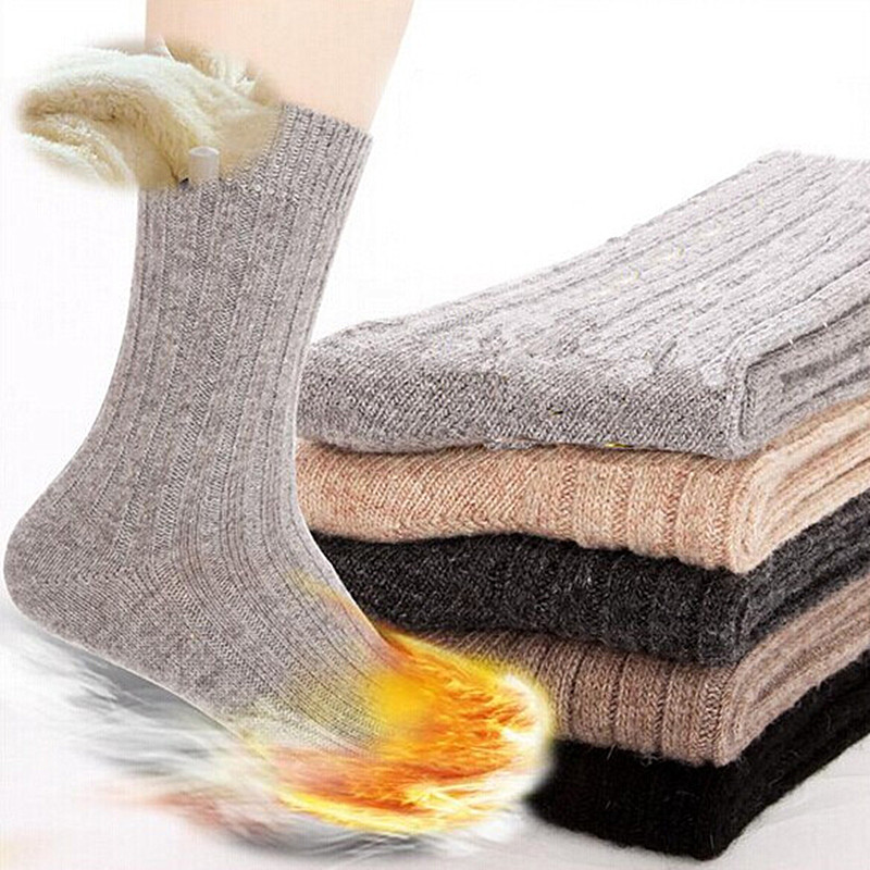 Brand Male Autumn Winter mens Needle Rabbit Wool Socks mens Thickening Thermal wool socks for men  Elite Warm Soks 5pairs=10pcs