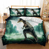 Cilected 3D Design Dragon Printing Duvet Cover Sets Cartoon Animal Dragon Bedding Set Queen Size Kid Boys Bedclothes