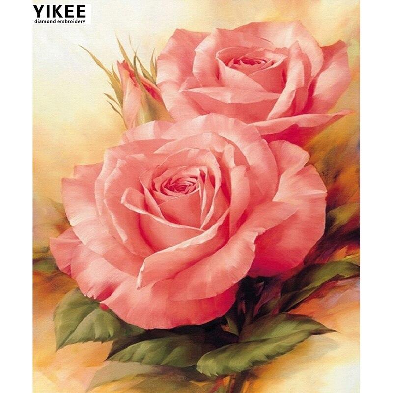 Bordado de diamantes YIKEE K71 flores, mosaico de diamantes, pintura - Artes, artesanía y costura