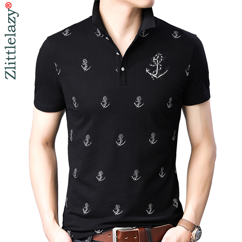2019 brand casual summer anchor short sleeve   polo   shirt men poloshirt jersey luxury mens   polos   tee shirts dress fashions 201914