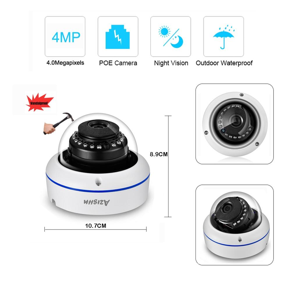 AZISHN H.265 5MP POE CCTV Security System 5.0MP NVR Explosion-proof Audio IP Camera P2P Onvif  IR Night Outdoor Surveillance Kit