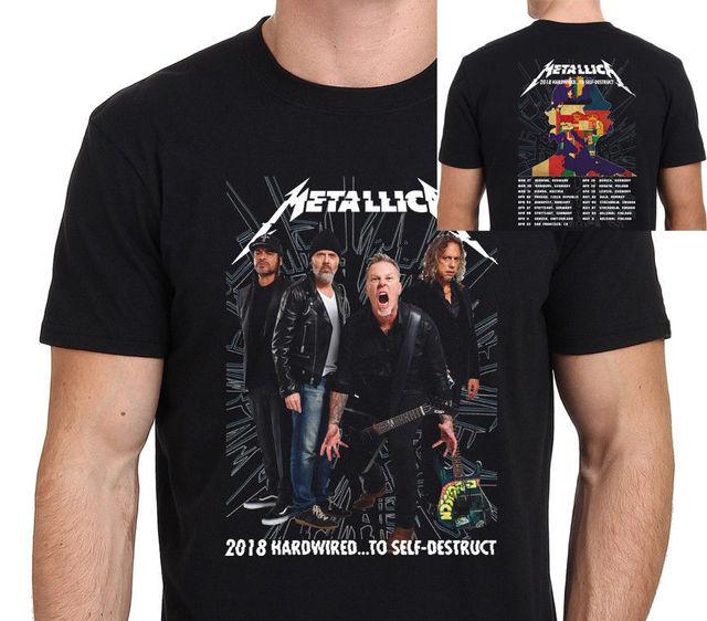 c850e3f7daea4 New Metallica HardWired World Tour 2018 T-Shirt Man Size  S-to-3XL Printed  Round Men T Shirt Cheap Price Top Tee
