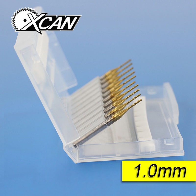 10pcs 3.175*1.0*7MM Titanium Coated Carbide End Milling Cutter Engraving Edge Cutter CNC Router Bits End mill for PCB Machine huhao 10pcs lot 3 175mm engraving bits cnc degree 10 90 end mill carbide milling cutter titanium coating cnc router tools
