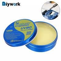 Flux de pâte de MCN-UV80 DIYWORK Flux de soudure sans soudure propre étain BGA Flux de soudure fer à souder électrique Flux de soudage pour PCB/BGA/PGA/SMD
