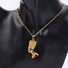 Экзотическая египетская Королева Нефертити кулон ожерелье s для женщин и мужчин ювелирные изделия золотого цвета унисекс ожерелье ювелирные изделия в африканском стиле
