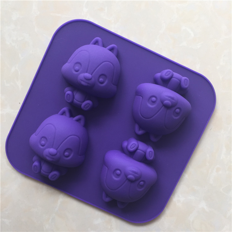 cm forma de ardilla pequea de silicona cake mold de