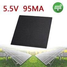 Gizcam Frosted Glass Plate Fast Charger Solar Panel Solar Cell 5.5V 160mA 0.5W Solar Charger Pane Battery Cells 6.5*6.5cm
