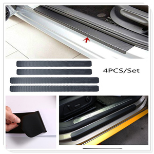 Car Door Sill Scuff Anti Scratch Carbon Fiber Sticker for Volkswagen vw 07 EOS 2.0 TF Phaeton 6.0 EOS 2.0 FS Touareg PTouareg