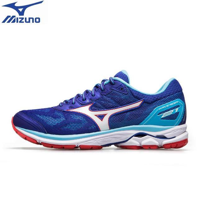 2018 original MIZUNO WAVE RIDER cushionning 21 Tênis de Corrida para homens  Respirável Calçados Esportivos maratona 9b1f46e0efe76