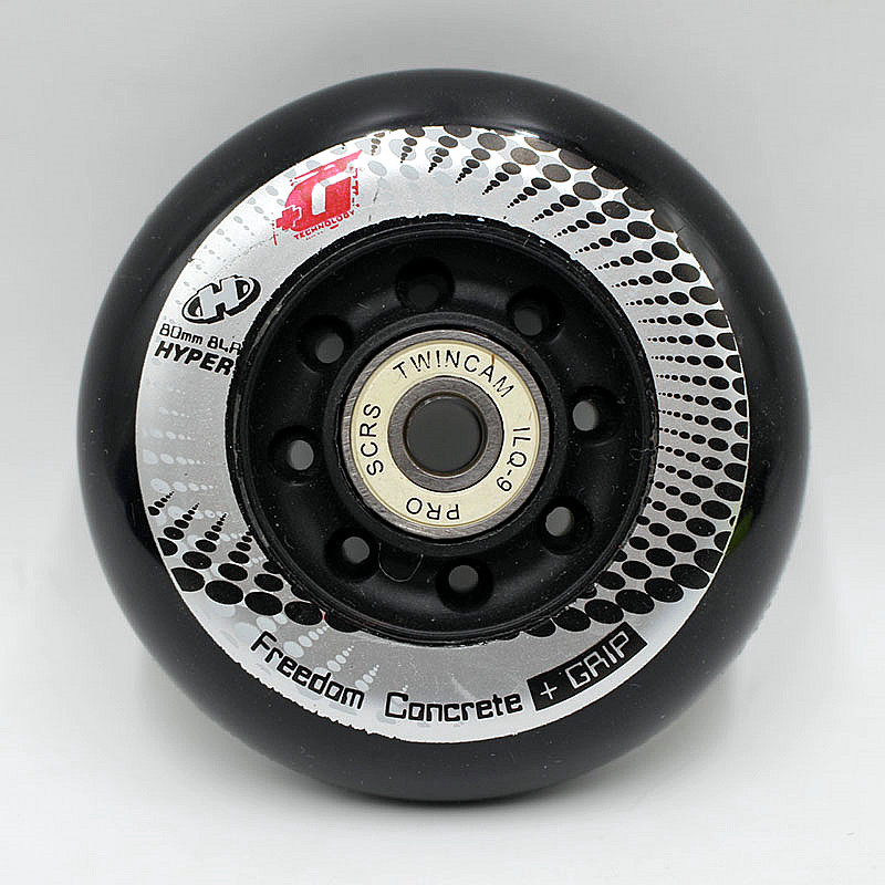 16PCS  Hyper+G GRIP Concrete 72/76/80mm  Inline Roller Skates Wheel, 84A FSK Slalom Braking Skating For SEBA Powerslide Wheel