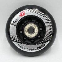 16PCS Hyper+G GRIP Concrete 72/76/80mm Inline Roller Skates Wheel, 84A FSK Slalom Braking Skating for SEBA Powerslide Wheel