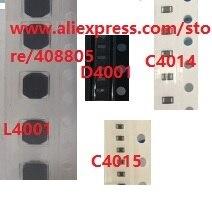 5 set/lotto Per iPad air 2 air2 A1566 A1567 L4001 bobina + diodo D4001 + capacità C4014 + C4015 Condensatore