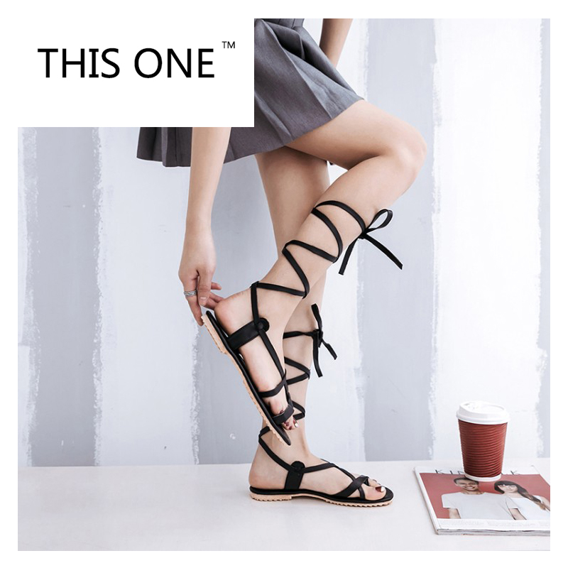 Tamaño 50 34 Mujeres black apricot Nueva Verano Zapatos Este Sandalias De Estilo Beige Mujer Moda Casual Uno Más Roma Para Pisos wIEFqqtp