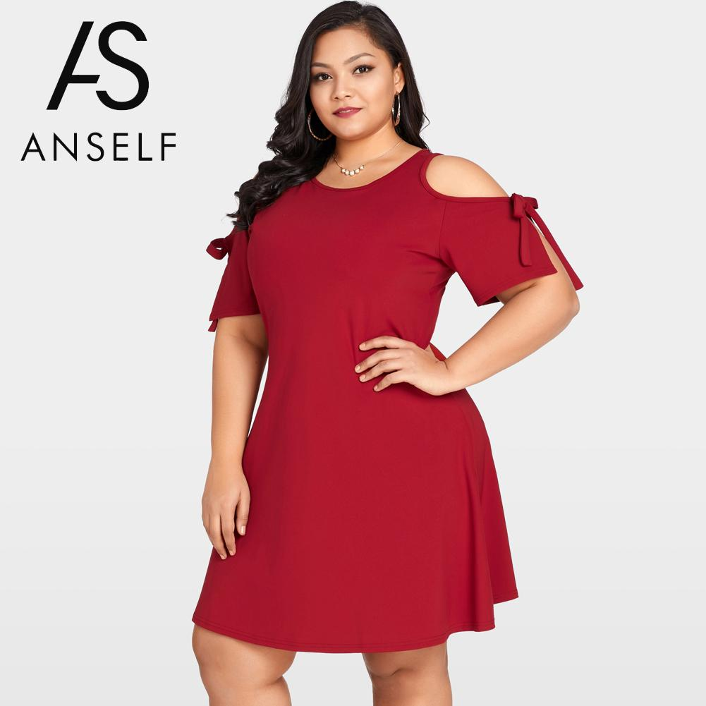 US $14.24 37% OFF|Women Plus Size Summer Dresses Cold Shoulder Short Sleeve  Mini Dress O Neck Keyhole Back female Clubwear Party Dresses Lady 3XL-in ...