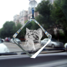 Personalized car pendants crystal photo pattern interior accessories