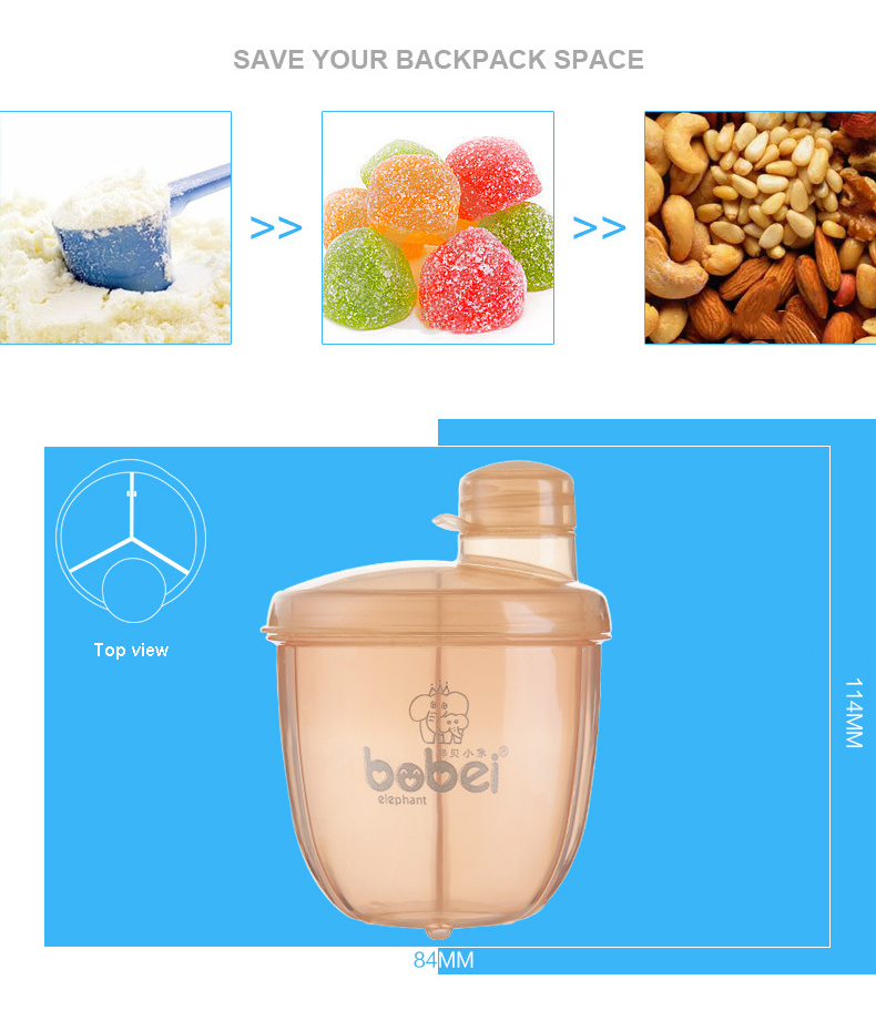 Купить с кэшбэком Formula Milk Storage Baby Feeding Box Portable Milk Powder Formula Dispenser Baby Kids Toddler Food Containers Storage