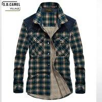Long Sleeve Shirt Features Cotton Blanket Plaid Shirt Fall Business New Men Cotton Shirt Fashion Casual