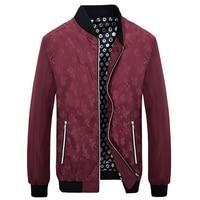 Hot Sale 2018 Print Coats Male Casual Stand Collar Bomber Jacket Spring Autumn Men's Jackets Men Windbreaker Jacket Men