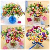 Child diy handmade button flower material handmade flower multicolour handmade buttons material