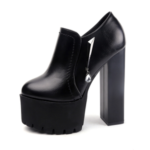 2020 new sexy waterproof platform single shoes 15 cm super high heel womens shoes simple elegant crude with high heels