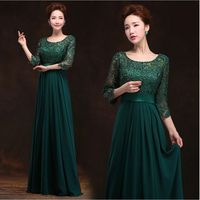 2016 New Arrival O Neck A Line Floor Length Long Chiffon Plus Size Mother Of The