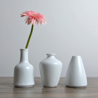 매트 유약 도자기 꽃병 장식 현대 창조적 인 홈