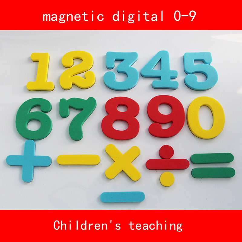 color number rubber magnet digital 0-9 and Mathematics Symbol for Children's teaching education 51 pcs digital number color lottery tennis game ball
